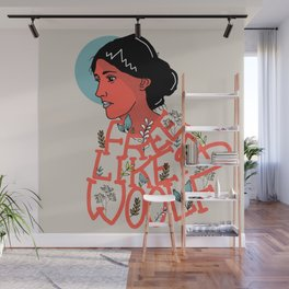Free like a woolf Wall Mural