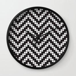Herringbone Weave Seamless Pattern. Wall Clock