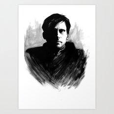 DARK COMEDIANS: Steve Carell Art Print
