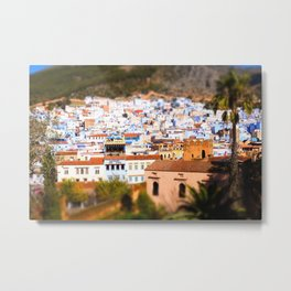 City View of Chefchaouen, Morocco Metal Print