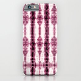 Burgundy Tiki Shibori iPhone Case