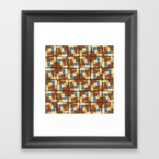 Blue Earth Patch Pattern Framed Art Print