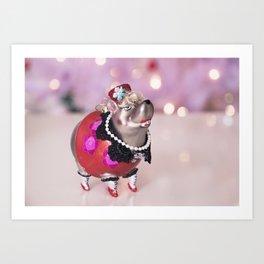 Fun and Fanciful Christmas Tree Ornament Art Print
