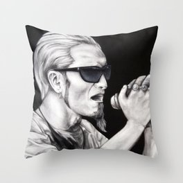 Layne Staley - Alice in Chains Throw Pillow