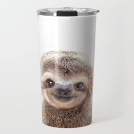Baby Sloth, Baby Animals Art Print By Synplus Travel Mug