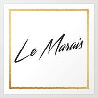 """Le Marais"" by Ashley Crawley Art Print"