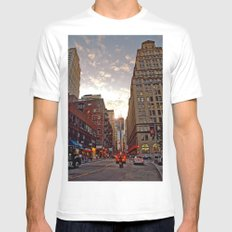 Up From Below White SMALL Mens Fitted Tee