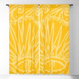 Saguaro Sunburst Gold Blackout Curtain