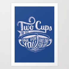 Two cups of tea Art Print