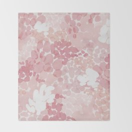 Blushing Petals Throw Blanket