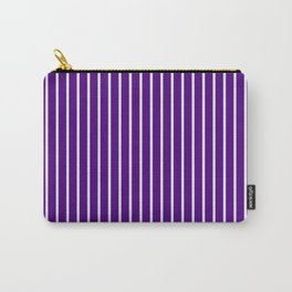 Vertical Lines (White/Indigo) Carry-All Pouch