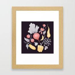 Vegetables (dark) Framed Art Print