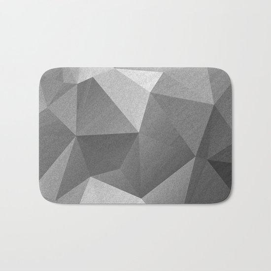 Grey polygonal geometric pattern . Bath Mat