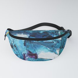 Faces in blue Fanny Pack