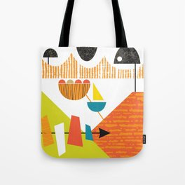 Atomic Mid Century Modern Boats Placement Print 2 Tote Bag
