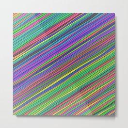 Calm diagonal stripes Metal Print