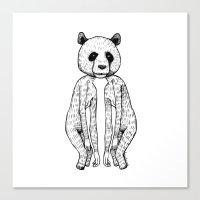 pandas Canvas Prints featuring Pandas by Benson Koo