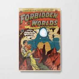 Forbidden Worlds Metal Print