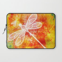 Dragonfly in embroidered beauty Laptop Sleeve