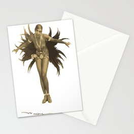 Josephine Baker Feather Costume Stationery Cards