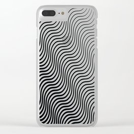 Whiskers Black #399 Clear iPhone Case