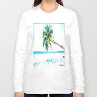 cuba Long Sleeve T-shirts featuring Cuba , Playa  ( Cuba , beach ) by arnedayan
