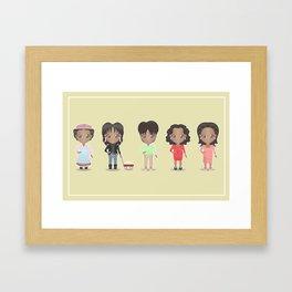 Oprah + Sofia Framed Art Print