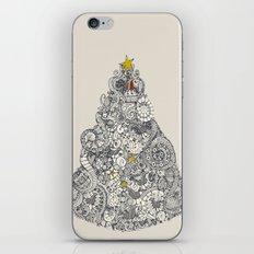 christmas robin tree iPhone & iPod Skin