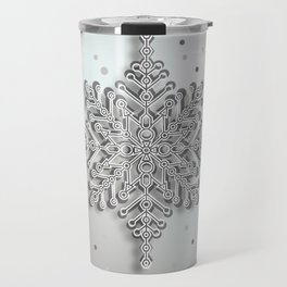 snow crystal Papercut Travel Mug