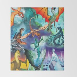 Wings-Of-Fire all dragon Throw Blanket