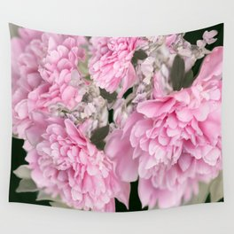 Pink Bouquet On A Black Background  #society6 #buyart Wall Tapestry