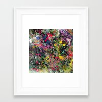 edm Framed Art Prints featuring EDM Explosion by Ensors Art