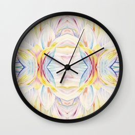 Opal Lotus Wall Clock