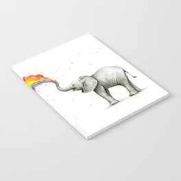 Rainbow Baby Elephant Notebook