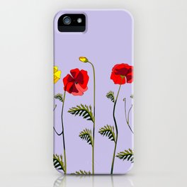 A Garden of Red and Yellow Poppies iPhone Case