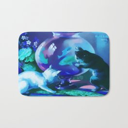 Kittens with Goldfishes Bath Mat