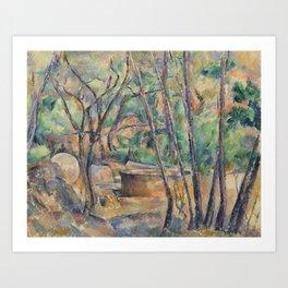 Millstone and Cistern under Trees Art Print
