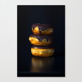 Chocolate Glazed Donuts Canvas Print
