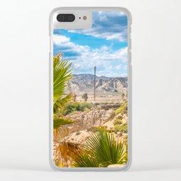 Amazing desert landscape in Andalusia, Almeria Spain Clear iPhone Case
