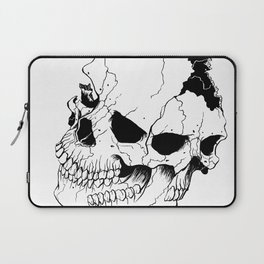 Skull #6 (Fragmented and Conjoined) Laptop Sleeve