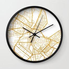 GENEVA SWITZERLAND CITY STREET MAP ART Wall Clock