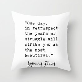 Sigmund Freud quote Throw Pillow