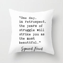 Sigmund Freud quote Throw Pillow