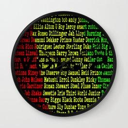 Reggae Artist - Roll Call Vol. 2 Wall Clock
