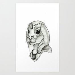 Lady rabbit Art Print