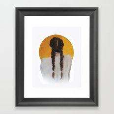 S U N Framed Art Print