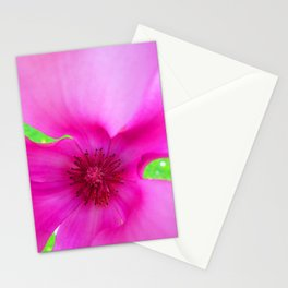 Shocking Pink Flower Stationery Cards