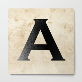 A is for... Metal Print