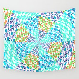 Vintage Whirlwind Spiral Quilt Patchwork Wall Tapestry