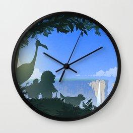 Paradise Falls Wall Clock